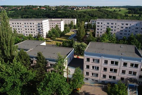 Blick vom Hochhaus auf Rotschau