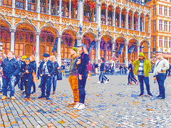 Grande Place Brussels, Russian Tourists