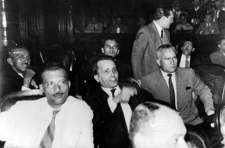 Marighella com a bancada comunista Constituinte, 1946
