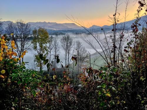 Autumn morning on Nußlberg mountain near Kiefersfelden, Bavaria, Germany
