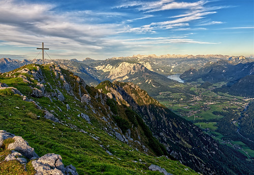 Evening on the top of Hoher Sarstein