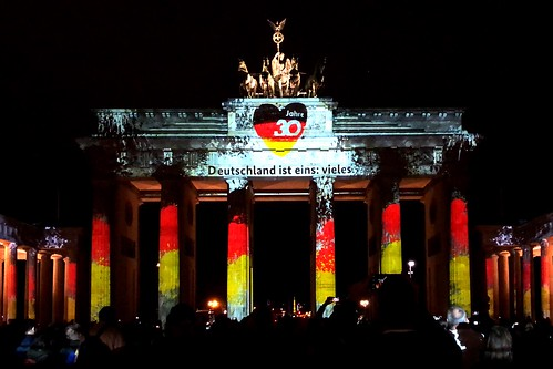 Festival of Lights 20:19 - The Brandenburger Gate (30th anniversary of the fall of the Berlin Wall)