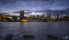 Made  in New York  (Blue hour at Brooklin bridge)