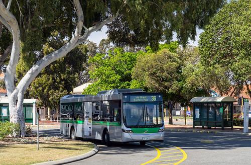 Perth city bus: Volgren Optimus # 2347