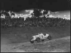 Bill Murray, in his Hudson Special, racing car, Grand Prix, Bathurst, October 1946