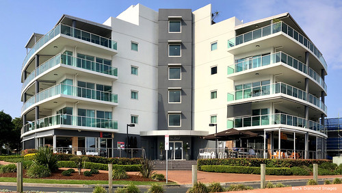 Reef Apartments Building, The Reef and Spice Monkey Restaurants, Forster, Mid North Coast, NSW