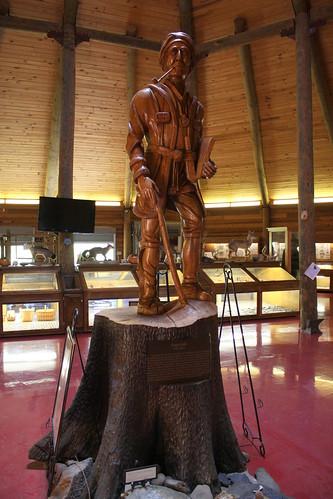 Sequoyah woodcarving - Oakville, AL Indian Mounds