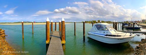 New Wharf on Wallamba River Channel, Tuncurry Waterfront, Tuncurry, NSW