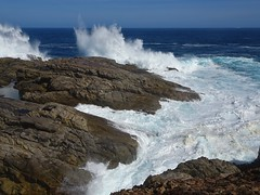 Whalers Way on Eyre Peninsula. A private coastal park near Port Lincoln. Known for its blow holes, crevasses, caverns, grottos etc.