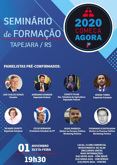 01/11/2019 Seminário de Formação 2020 Começa Agora - Tapejara