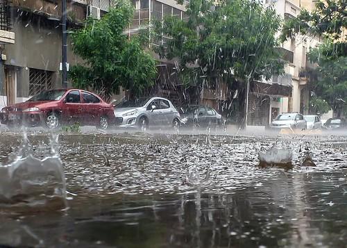 Diluvia en Villa Crespo