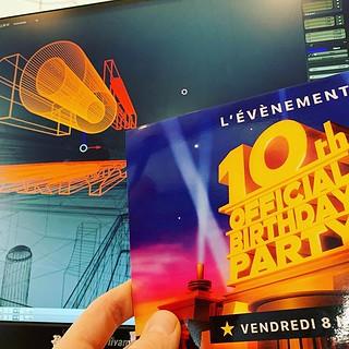 10 ans pour La Suite à #rennes, 10 ans de collaboration. Pour l'occasion une crea 3D hommage au monde du divertissement et à la mesure de l'événement. #graphisme #lagencequivouseclair #communication #print #rennesmaville