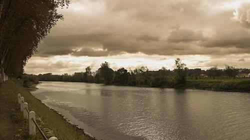 río Gave de Pau en Peyrehorade