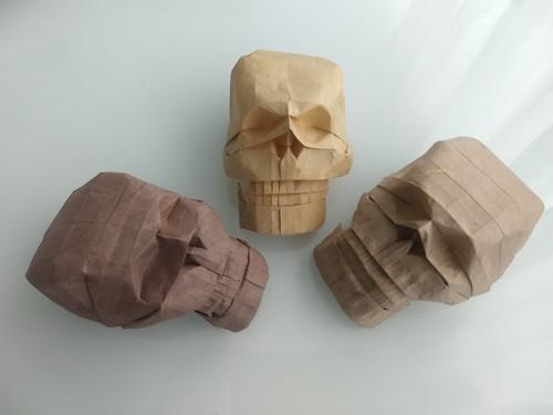 Skulls by Yutaka Naito Dó handmade Lokta Double dó + Thai unryu 14x42 cm