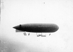 "09_03097  French Army Airship ""Eclaireur Conte"": WWI Aviation-Related Photos taken in France, c. 1914-1917"