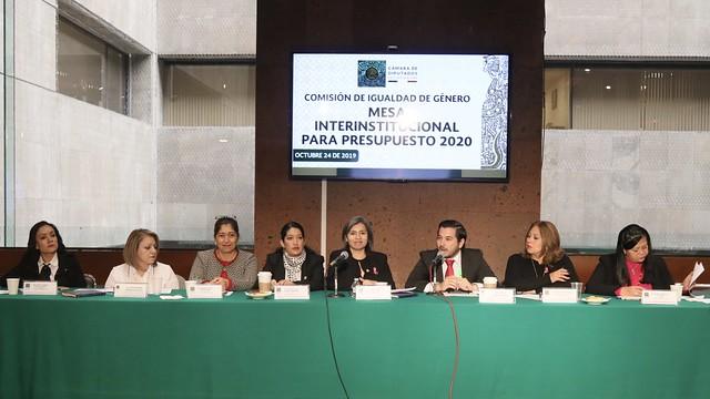 24/10/2019 Mesa de Trabajo Comisión de Igualdad de Género