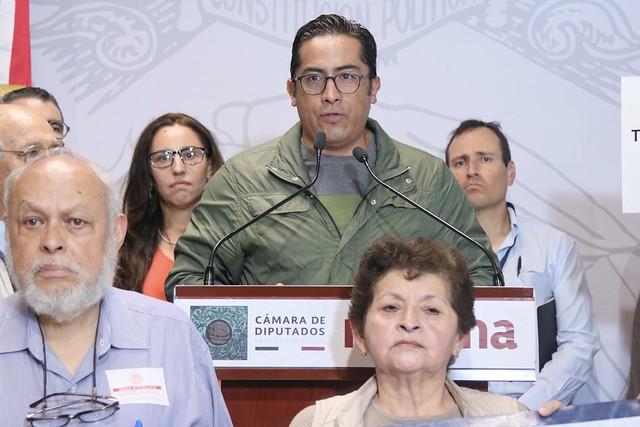 29/10/2019 Conferencia de Prensa Diputado Miguel Ángel Jauregui Montes de Oca