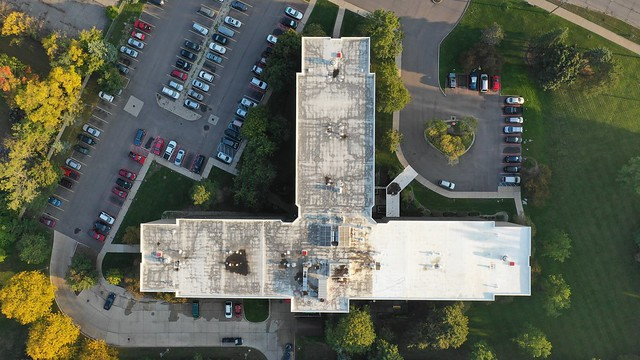 Commercial Roof Coating Project in Pontiac
