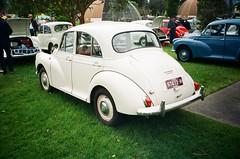 Morris Minor 1000 in cream