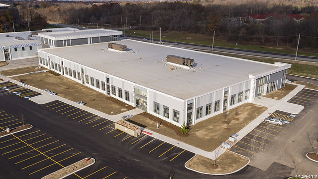 Drone Shot of newer TPO Roofing