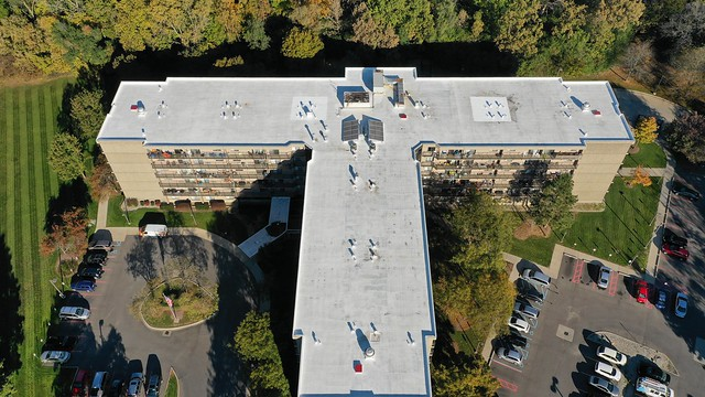 Drone of Commercial Coating Project in Pontiac