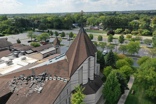 Large Commercial Roofing project on Church in Rochester Hills