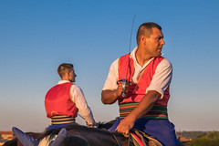 Reiter mit Säbel in der Hand