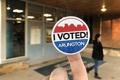 Voting in Arlington today
