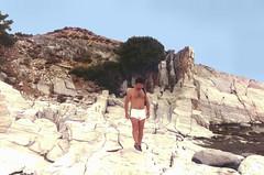 Limestone in Thassos, Greece
