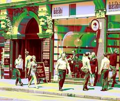 Wasabi in Six Hues - A Street Scene