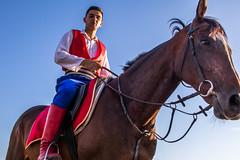 Serbian knight on horseback