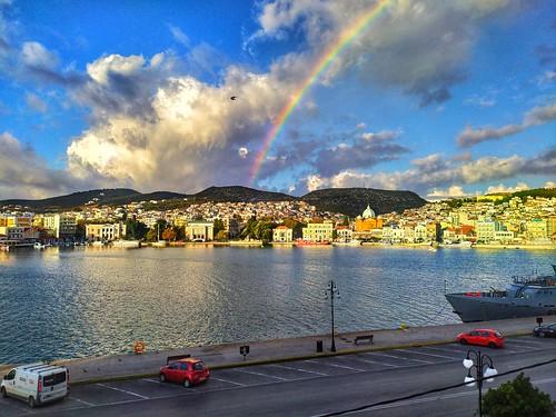 Early morning rainbow