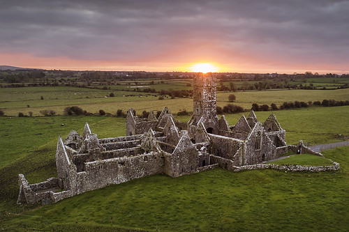 Heavenly light, Ross Errilly Friary, Galway, Ireland