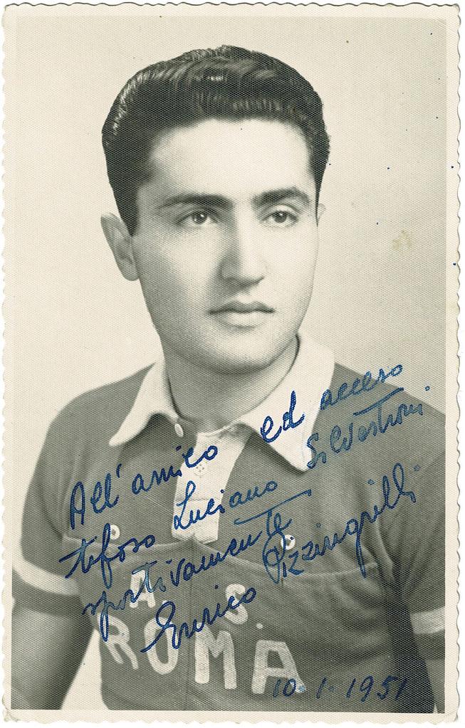 Cartolina di Enrico Pizzingrilli con dedica al Maresciallo Luciano Silvestroni