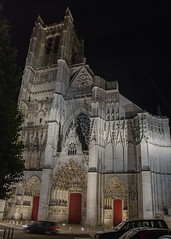 Cathédrale Saint-Étienne de nuit