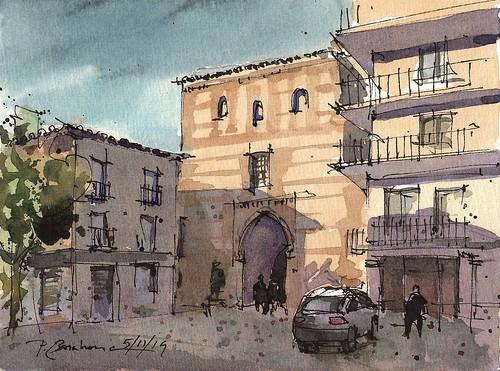 Arevalo. Plaza del Arrabal