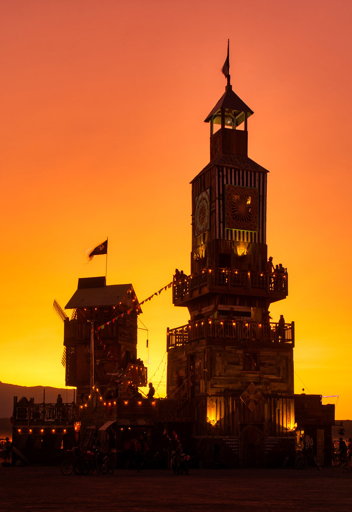The Folly at Sunset