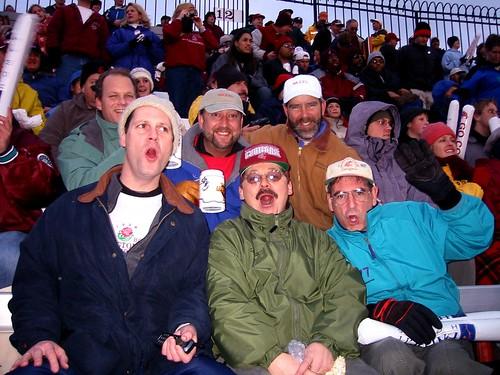 "Chris Knudsen at Martin Stadium WSU Pullman Washington with The ""Bolt Brothers"" Nov. 2002"