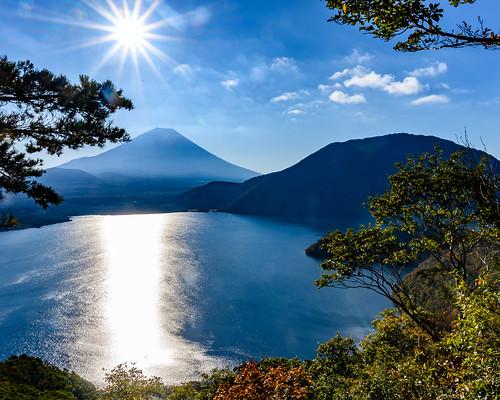 Lake Motosu autumn scenery