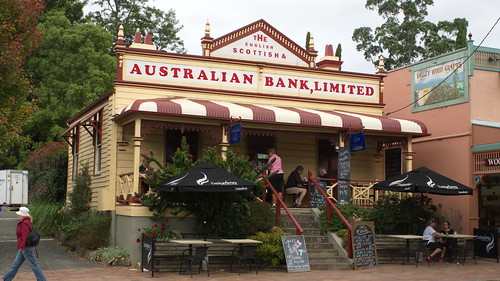 The former E S & A Bank at Kangaroo Valley, NSW