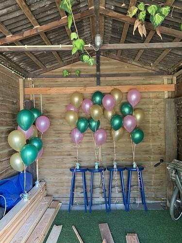 Tafeldecoratie 5ballonnen Barendrecht