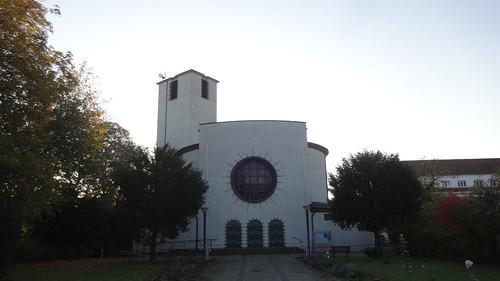 1929/30 Leipzig katholische Kaufmanns-Gedächtniskirche St. Bonitfatius mit Turm 27mH in Art Déco von Theo Berlage Biedermannstraße 86 in 04277 Connewitz