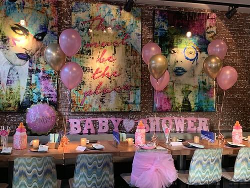 Tafeldecoratie 3ballonnen Babyshower Wijnbar 1NUL8 Rotterdam