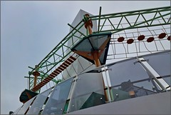 MSC Grandiosa - DECK 18 - Looking up to Himalayan Brige - Ropescourse