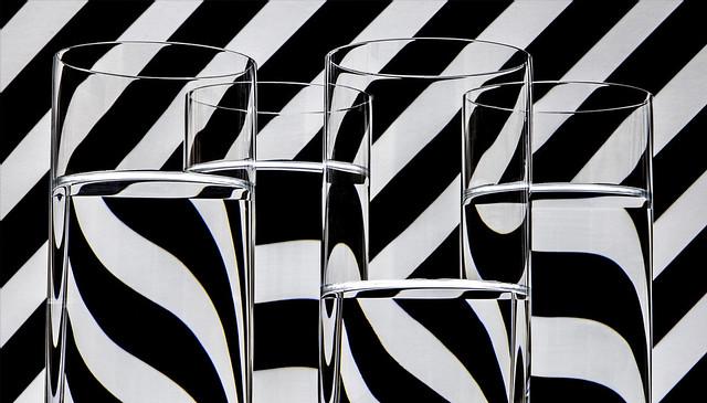 Réfractions dans les verres