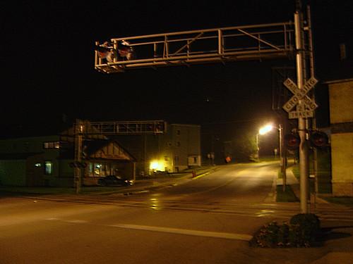 Main Street Crossing at Night