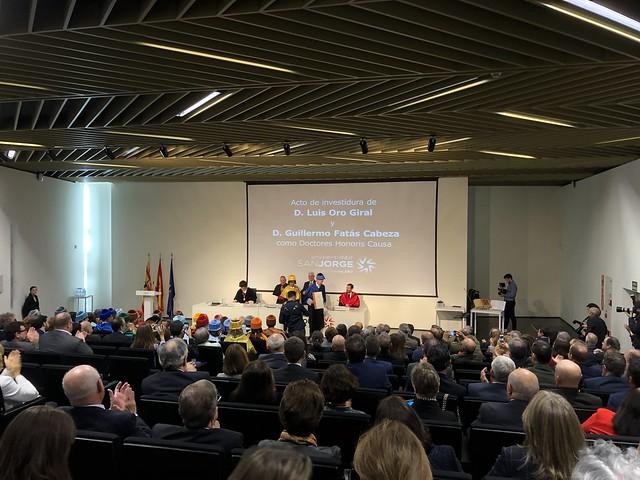 Ceremonia de investidura de D. Luis Oro y D. Guillermo Fatás como Doctores honoris causa de la USJ