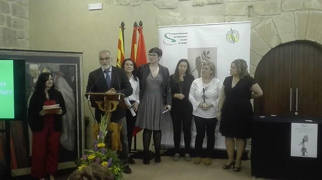 Lugarteniente en la Gala del Trabajo Social en Aragón celebrada en Caspe