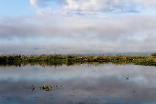 Inle lake in early morning