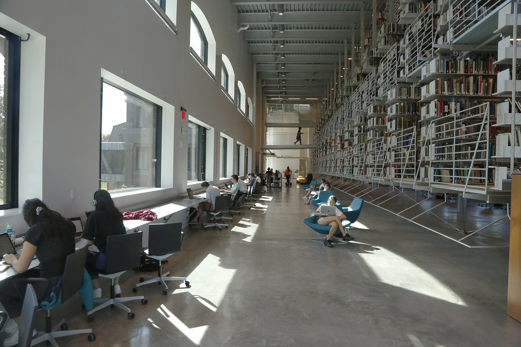 A view of the Frances Schloss Reading Room.
